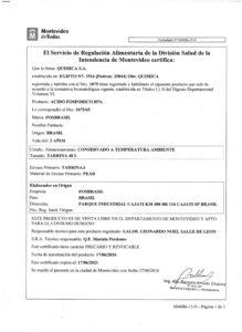 REGISTRO IMM 1075-65 - ACIDO FOSFORICO 001