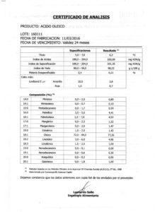 ACIDO OLEICO - Lote 160111 001