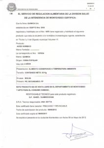 REGISTRO IMM 1075-34 ACIDO SORBICO