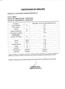 Dextrosa Lote E686H 001