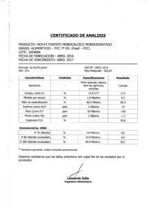 FOSFATO MONOCALCICO MONOHIDRATADO - Lote 160408A 001
