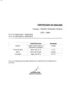 FOSFATO TRISODICO TEC. - Lote Nº 14689 001