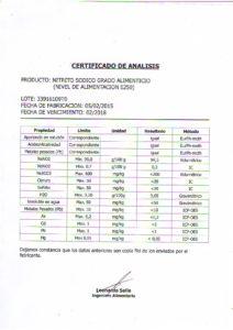 NITRITO DE SODIO-LOTE 33916109T0