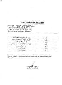 POTASA CAUSTICA ESC. Lotes -050415;060415;070415 y 080415 001