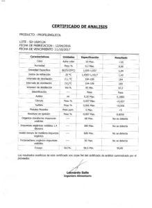 PROPILENGLICOL - Lote SD-160412A 001
