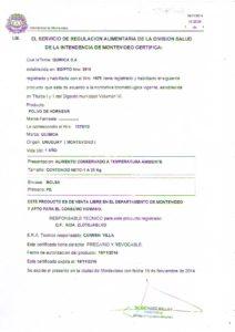 REGISTRO IMM 1075-12 - POLVO DE HORNEAR