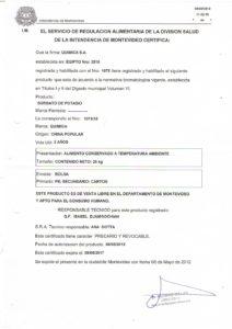 REGISTRO IMM 1075-33 SORBATO DE POTASIO