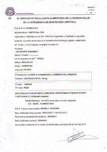 REGISTRO IMM 1075-54 - COL CARAMELO TAMBOR