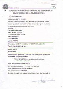 REGISTRO IMM 1075-55 - COL CARAMELO FRACCIONADO