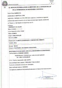 REGISTRO IMM 1075-57 - PROPIONATO DE CALCIO