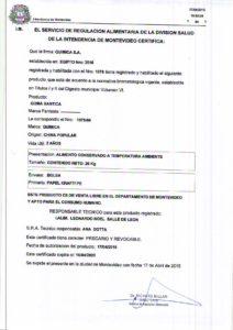 REGISTRO IMM 1075-60 - GOMA XANTICA