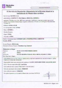 REGISTRO IMM 1075-61- GOMA GUAR
