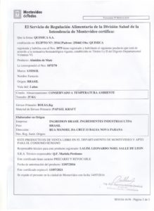 REGISTRO IMM 1075-70 FECULA DE MAIZ