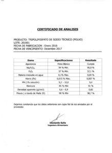 TRIPOLIFOSFATO DE SODIO TEC. - Lote 21601 001